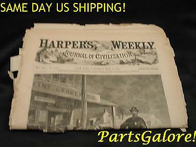 May 1881 HARPER'S WEEKLY Illustrated Newspaper Complete Journal of Civilization
