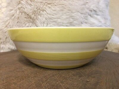 T.G green Bowl Rare Cornishware Sunlit Yellow Retro Vintage