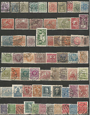 POLAND from 1919 year  nice COLLECTION used stamps