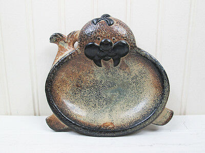 Vintage Walrus Soap Dish Stoneware Ceramic Made In Japan Figural Mid Century