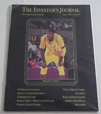 July 1992 THE INVESTOR'S JOURNAL Sports Card Guide SHAQUILLE O'NEAL #'d /17500