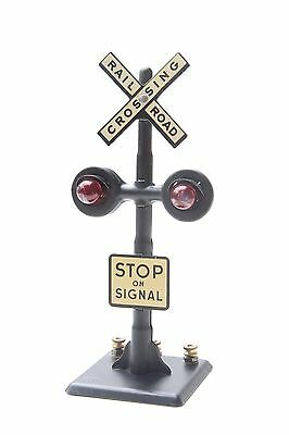 Vintage MARX Toy Railroad Crossing Signal Sign in Mint Condition: Stop on Signal