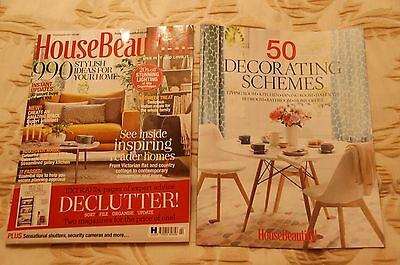 House Beautiful Magazine February 2017 + 32 page supplement 50 Decorating Scheme