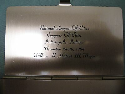 Vintage National League of Cities, Congress of Cities Brass Business Card Case