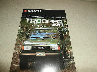 1986 ISUZU TROOPER Sales Brochure Soft Top, Hard Top 5 Door Wagon. Un-circulated
