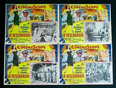 JANE RUSSELL  The Revolt of Mamie Stover  LOBBY CARD SET OF 4 NEAR MINT 1956