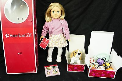 Wow! RETIRED FIRST EDITION KIT KITTREDGE AMERICAN GIRL DOLL - With Dog and Set