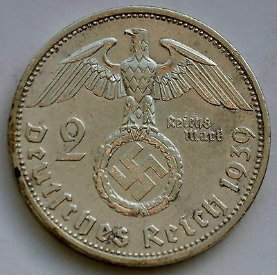 2 Mark 1939 A Third Reich Nazi Germany Silver coin
