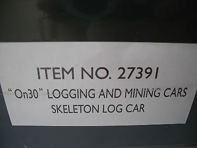 Spectrum 27391 Skeleton Log Car, Logging and Mining, 3 per Box, 1/2, On30 Scale