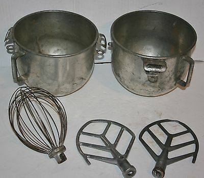 Pair Of Used Commercial Kitchen Mixing Bowls & Attachments