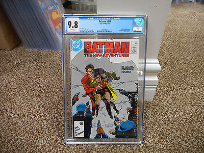 Batman 410 cgc 9.8 1st appearance of post crisis Jason Todd as Robin DC 1987 WHT