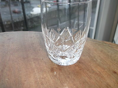 Small Elegant Cut Lead Crystal Glass Whisky Cordial Tumbler Superb Sparkle