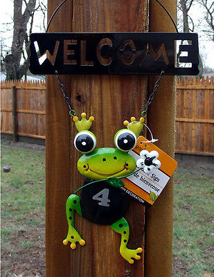 New Painted Metal Raiders Wall Welcome Frog Sign Bagged With Tag