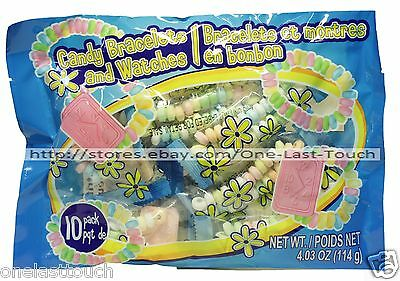 EASTER* 4.03oz Bag BRACELET+WATCH Candy/Candies INDIVIDUALLY WRAPPED Exp. 1/18+