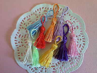REDUCED~10 x silky tassels 45-50mm Pick your colour~for all your crafts~