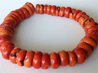 Antique natural Coral beads Chinese old necklace 272 gram (m993)