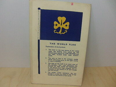 Girl Guides / Girl Scouts – The World Flagunused Postcard published Nov 1935