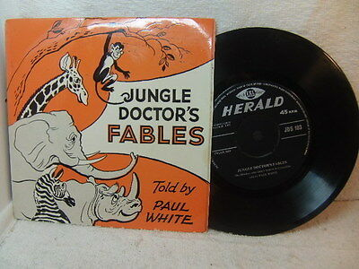 Jungle Doctor Fables told by Paul White 1963 EP Herald JDS 103