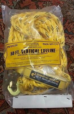Guardian Fall Protection 50ft Vertical Lifeline Assembly 01320