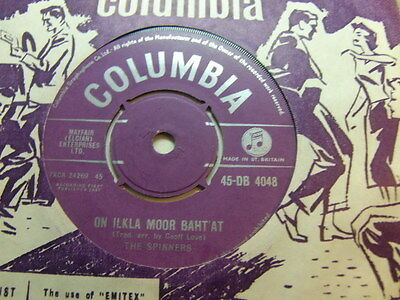"""The Spinners – On Ilkla Moor Baht' At 1957 7"""" Columbia DB 4048"""