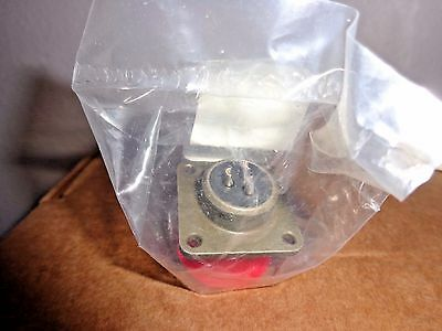 Amphenol MS3102A-14S-1S CIrcular Connector 3 Pin NEW with Red Cap MS3102A14S-1S