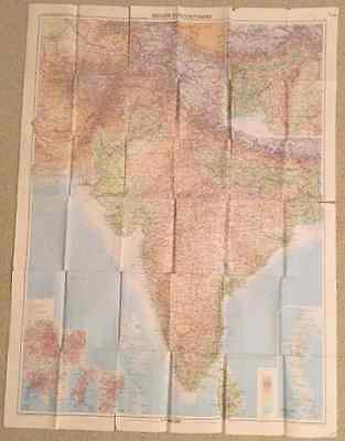 Map of Indian Subcontinent by Bartholomew World Travel Series - 1973