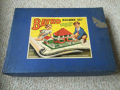 Bayko Building Set 2 + other make - contents unchecked -  incl.Bayko screwdriver