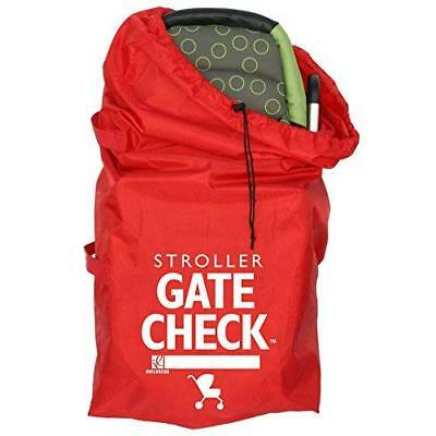 J.L. Childress Gate Check Bag For Standard and Double Strollers, Red New