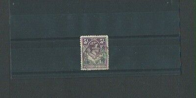 Northern Rhodesia 1938 Used KGVI sg 43 5s Green/Violet