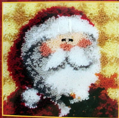 "Mcg Textiles Latch Hook   Pillow Kit ""ho Ho Santa"""