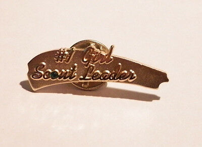 Adult Girl Scout Pin~ #1 Girl Scout Leader Fun Pin ~ Pre-Owned