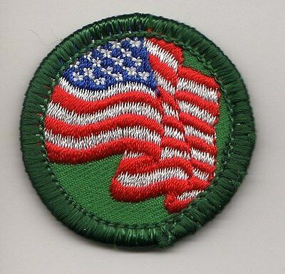 Retired Girl Scouts Junior Badge Patch~2000-2011~United We Stand