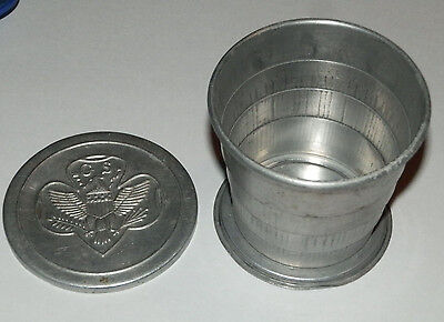 Vintage Girl Scout Tin Collapsible  ssable Camping Mess Kit Cup