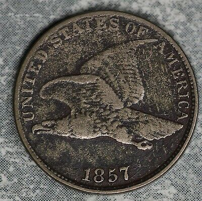 1857 Flying Eagle Cent!!  Very Good Condition Coin!!