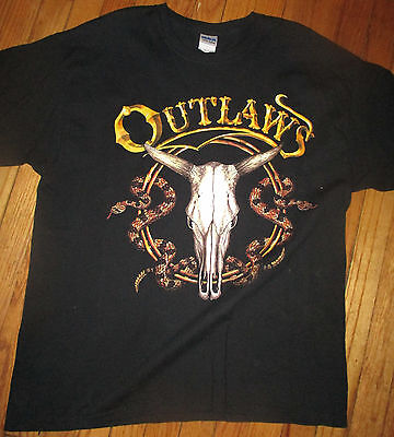 THE OUTLAWS Together Forever Logo Black T Shirt XL Southern Rock Band
