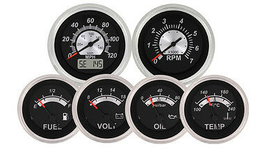 Black Sterling 6 Gauge Kit with GPS Speedometer VeeThree