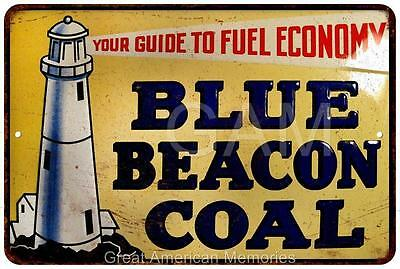 Blue Beacon Coal  Vintage Look Reproduction Metal Sign 8x12 8121575