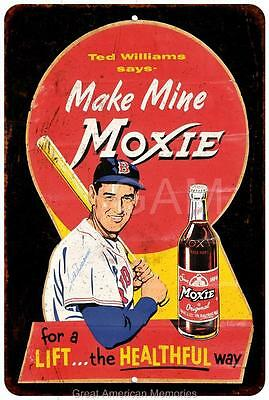 Ted Williams for Moxie Vintage Look Reproduction Metal Sign 8 x 12 8120449