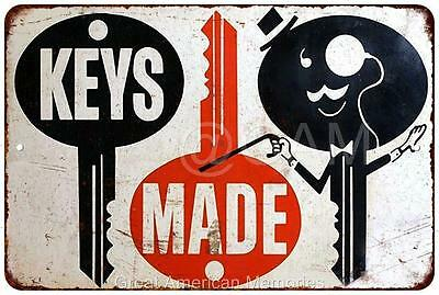 Keys Made Vintage Look Reproduction Metal Sign 8x12 8121962