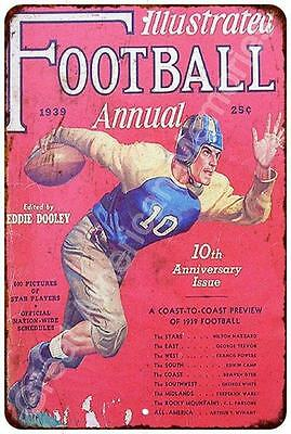 1939 Illustrated Football Vintage Look Reproduction Metal Sign 8x12 8122482