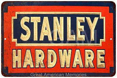 Stanley Hardware Vintage Look Reproduction Metal Sign 8x12 8121761