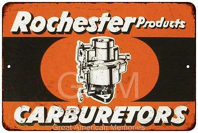 Rochester Products Carburetors Vintage Look Reproduction 8x12 Sign 8121430