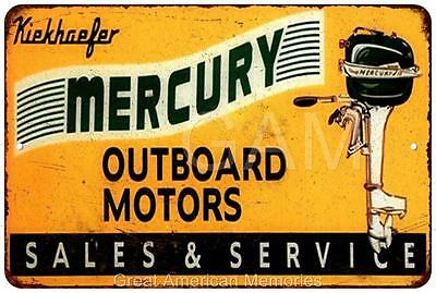 Mercury Outboard Motors Sales & Service Vintage Reproduction Sign 8x12 8121726