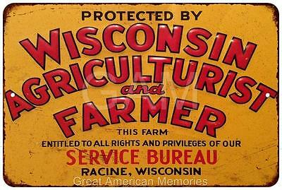 Wisconsin Agriculturist and Farmer Vintage Reproduction 8x12 Metal Sign 8121528