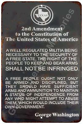 The 2nd Amendment Vintage Look Reproduction Metal Sign 8x12 8122369