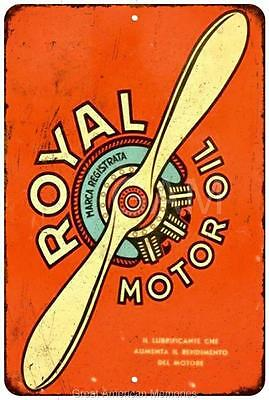 Royal Aviation Motor Oil Vintage Look Reproduction Metal Sign 8x12 8121697