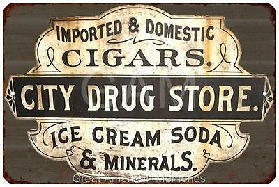 City Drug Store Vintage Look Reproduction 8x12 Metal Sign 8121546