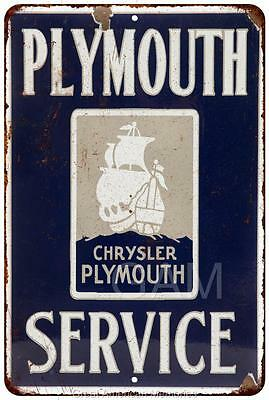 Chrysler Plymouth Service Vintage Look Reproduction 8x12 Metal Sign 8120570