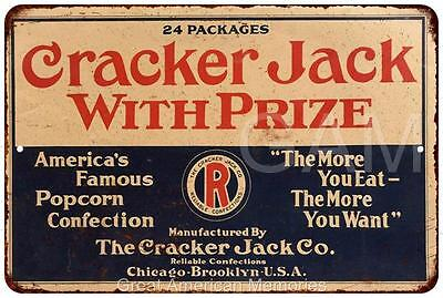 Cracker Jack With Prize Vintage Look Reproduction 8x12 Metal Sign 8120686