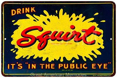 Drink Squirt Vintage Look Reproduction Metal Sign 8x12 8121769